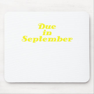 Due in September Mouse Pad