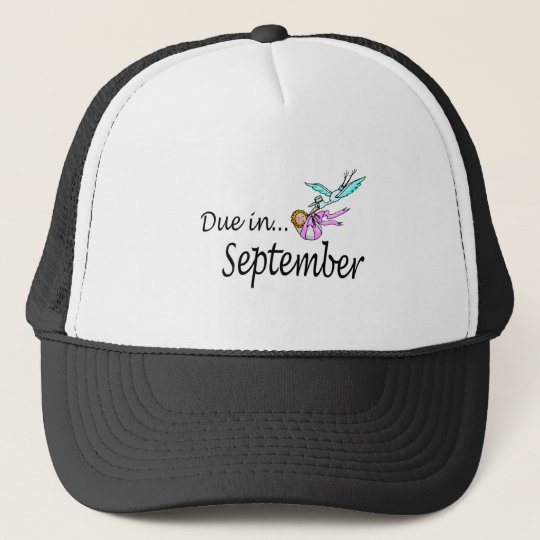Due In September Stork) Trucker Hat