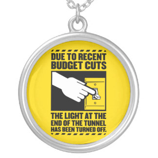 Due to Budget Cuts, the Light at the end of the Tu Round Pendant Necklace