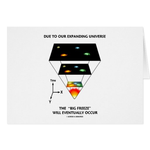 Due To Our Expanding Universe Big Freeze Occur Greeting Card