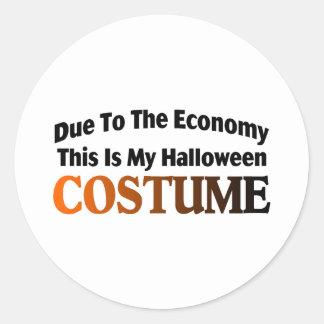 Due To The Economy Costume Classic Round Sticker