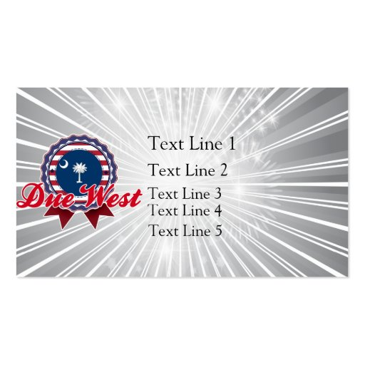 Due West, SC Double-Sided Standard Business Cards (Pack Of 100)