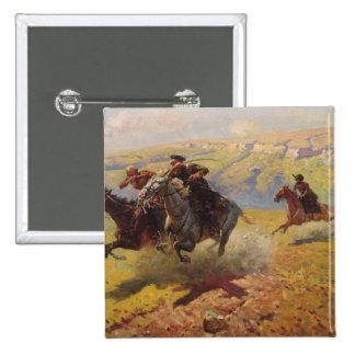 Duel, 1905 2 inch square button