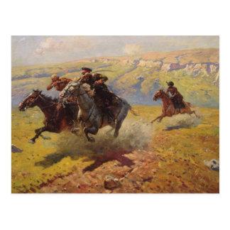 Duel, 1905 postcard