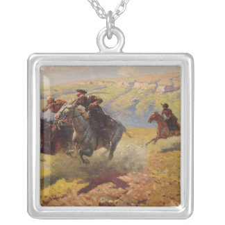 Duel, 1905 silver plated necklace