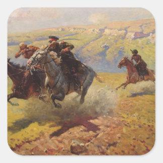 Duel, 1905 square sticker