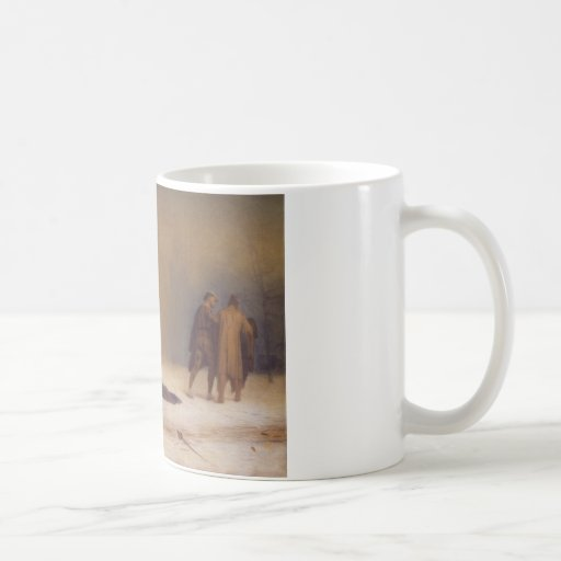 Duel After A Masquerade Ball Classic White Coffee Mug