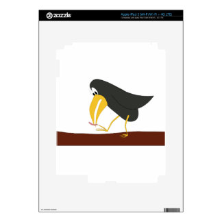 Duel - Bird and worm Decals For iPad 3