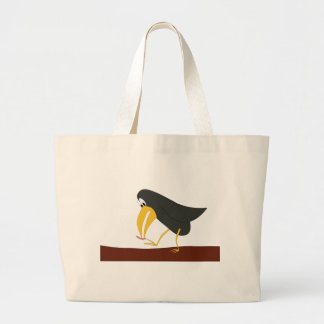 Duel - Bird and worm Large Tote Bag