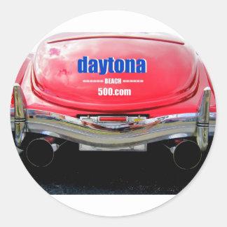 Duel Exhaust Classic Round Sticker