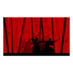 Duel in the Red Bamboo - Samurai Battle Poster