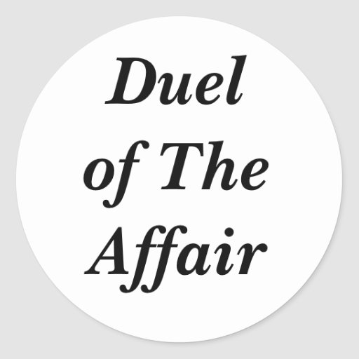 Duel of The Affair sticker