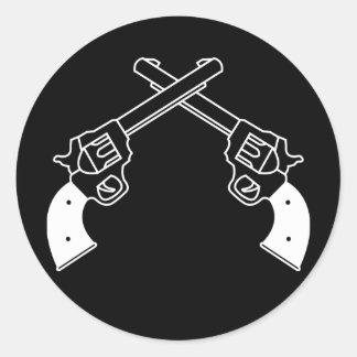 Duel Pistols Classic Round Sticker