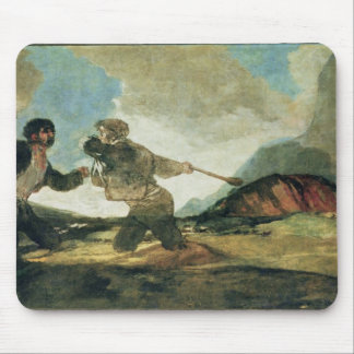 Duel with Clubs Mouse Pad