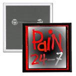 Duela 24/7 insignia del botón - enfermedad invisib pin