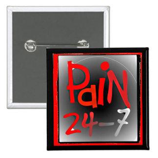 Duela 24/7 insignia del botón - enfermedad invisib