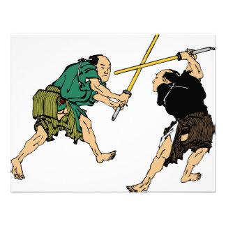 Duelers de Hokusai en color Comunicado