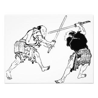 Duelers de Hokusai Invitacion Personal