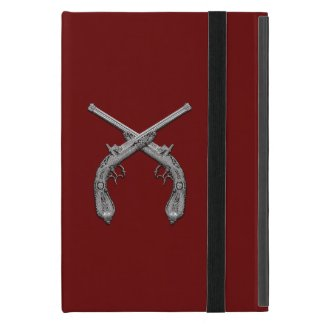 Dueling Antique Guns Maroon Cover For iPad Air