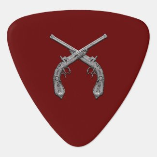 Dueling Antique Guns Maroon Pick