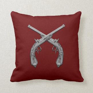 Dueling Antique Guns Throw Pillow