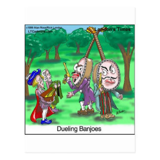 Dueling Banjoes Funny Gifts Tees Etc by LTCartoons Postcard