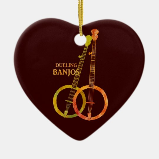 Dueling Banjos Ceramic Ornament