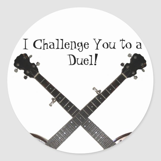 Dueling Banjos Classic Round Sticker
