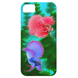 Dueling Betta Splendens Fighting Fish iPhone Case iPhone 5 Case
