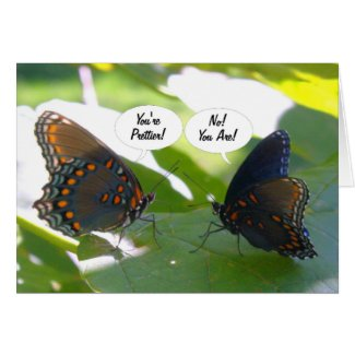 Dueling BFFs (Butterfly Friends Forever) Cards