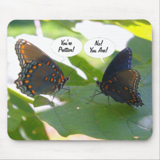 Dueling BFFs (Butterfly Friends Forever) Mouse Pad