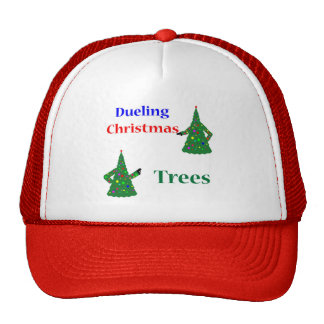 Dueling Christmas Trees Mesh Hat