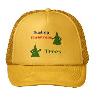 Dueling Christmas Trees Trucker Hats