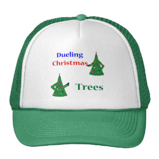 Dueling Christmas Trees Mesh Hats