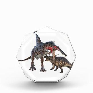 Dueling Dinosaurs Acrylic Award