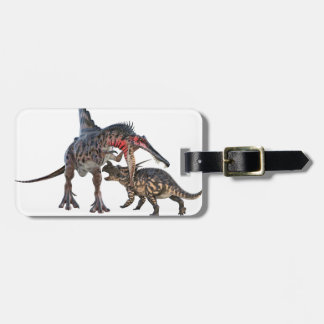 Dueling Dinosaurs Bag Tag