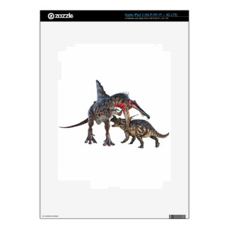 Dueling Dinosaurs iPad 3 Decal