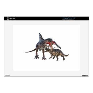 Dueling Dinosaurs Laptop Skins
