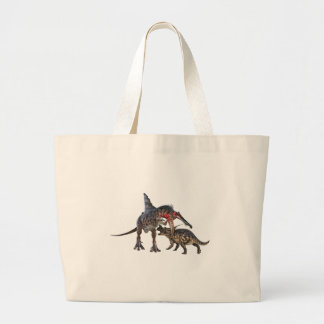 Dueling Dinosaurs Large Tote Bag