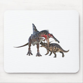 Dueling Dinosaurs Mouse Pad