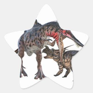 Dueling Dinosaurs Star Sticker