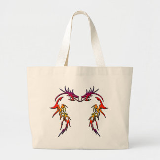DUELING DRAGONS LARGE TOTE BAG