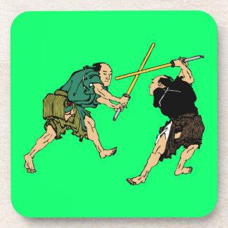 Dueling Samurai Drink Coaster