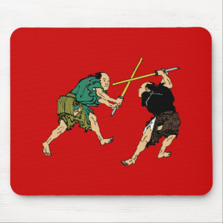 Dueling Samurai Mouse Pads