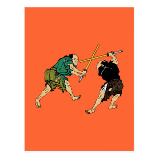 Dueling Samurai Post Card