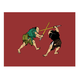 Dueling Samurai Post Cards