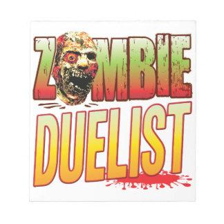 Duelist Zombie Head Memo Pads