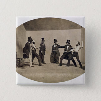 Duelling (photo) pinback button