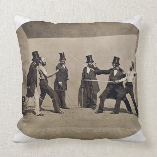 Duelling (photo) throw pillow