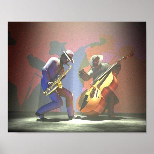 Duelo del jazz póster